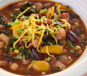 Pumpkin, Black Bean & Lentil Chili