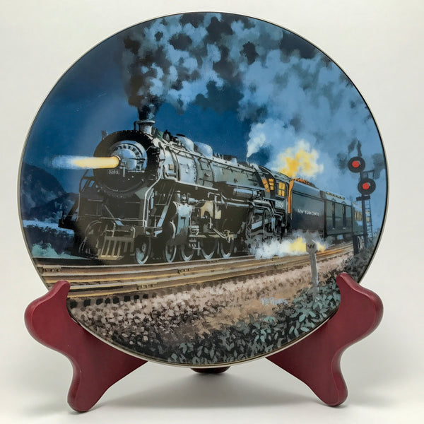 Knowles China Twentieth Century Limited Train Collector Plate - Blue Plum Collections