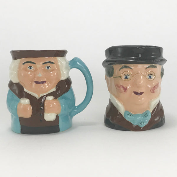 Vintage TOBY Character MUGS Two Small Jug Mug Stein LOT 2 Mr Pickwick - Blue Plum Collections