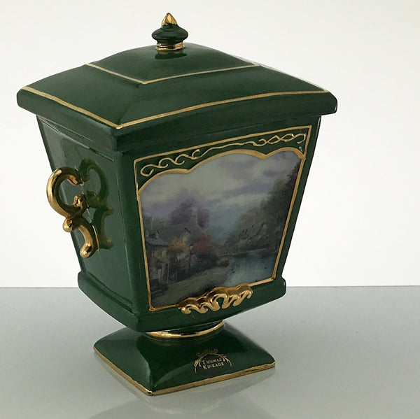 THOMAS KINKADE MUSIC BOX Lamplight Brooke Limited Edition 24K Gold Trim - Blue Plum Collections