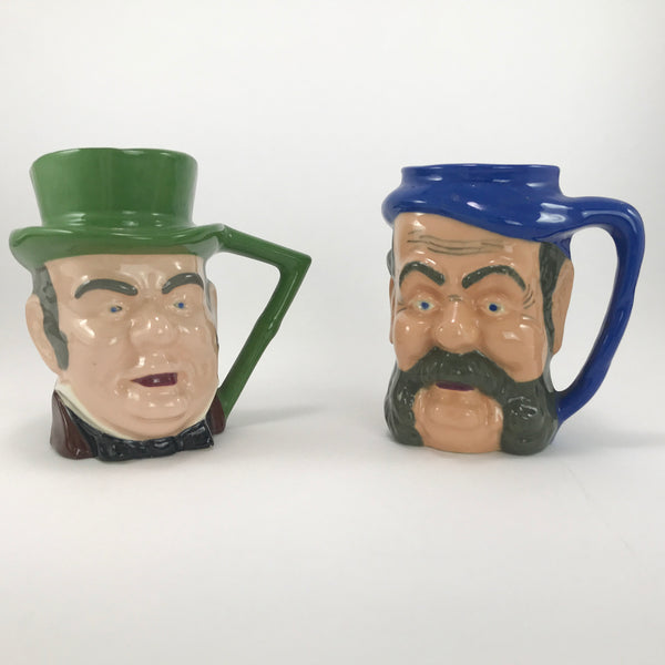 Vintage TOBY MUGS 2 Large Character JUGS Two Steins England Mug Jug LOT - Blue Plum Collections