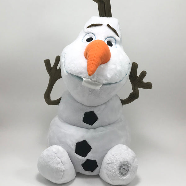 OLAF Plush STUFFED ANIMAL Disney FROZEN Snowman Large Soft Tall Toy Store Doll - Blue Plum Collections