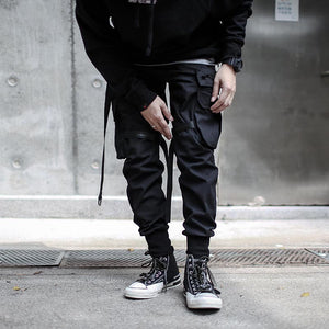 Dark cargo LP pants