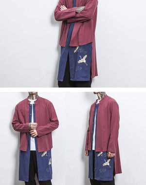 Double layer crane long jacket