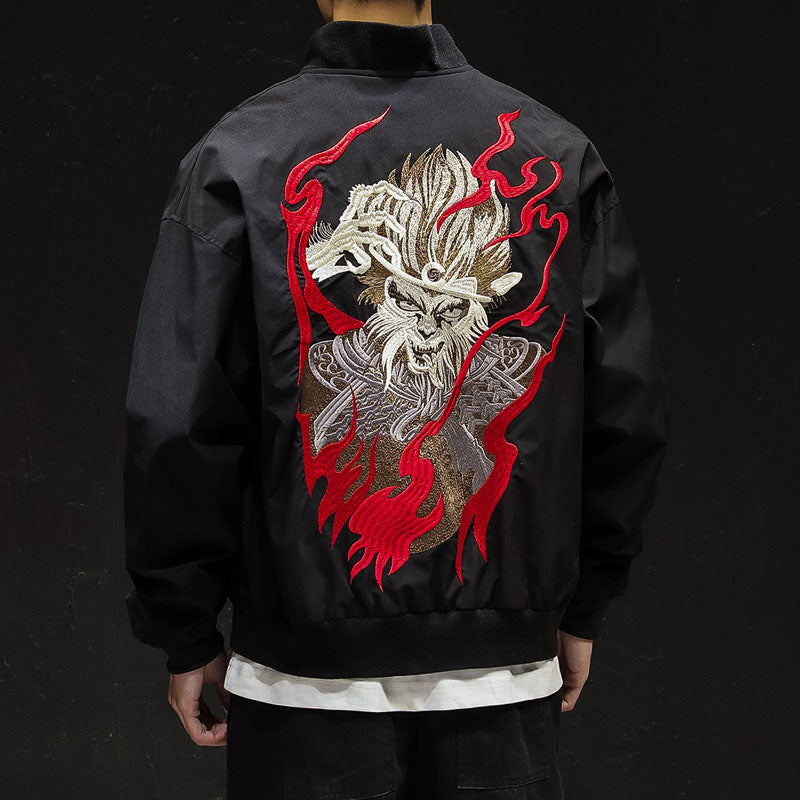 Mystical monkey bomber jacket