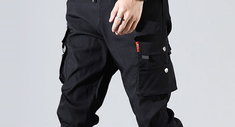 Solid tactical cargo pants