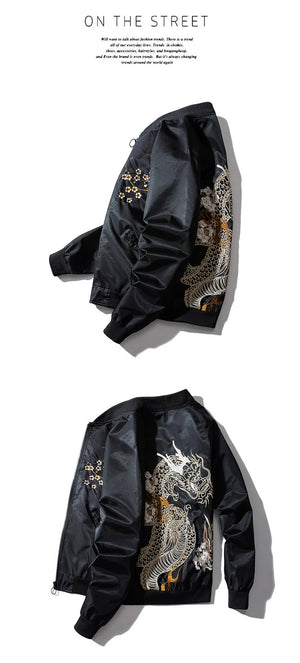 Tattoo dragon bomber jacket