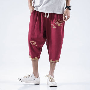 Golden cloud linen pants