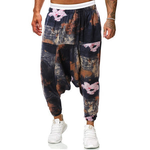 Portrait harem pants