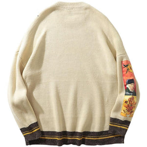 Portrait sleeve sweater