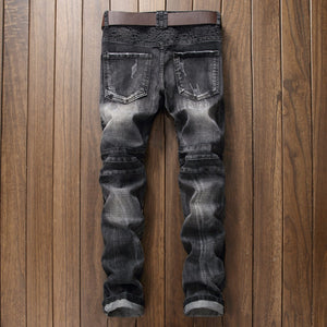 Carbon washed steel rivet designed jeans