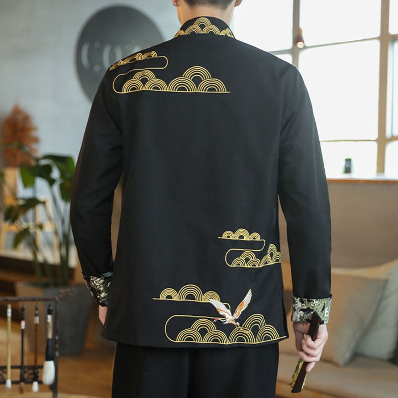 Crane icon Tang Dynasty jacket