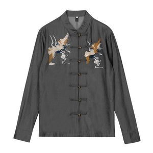 Double crane Tang dynasty jacket