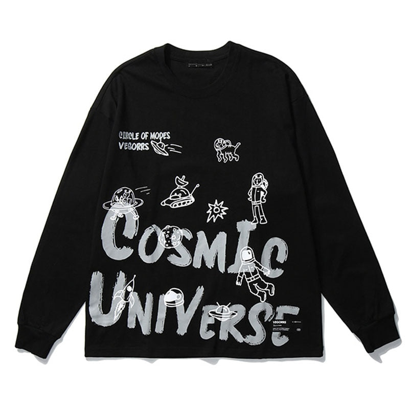 """Space"" long sleeve T-shirt"
