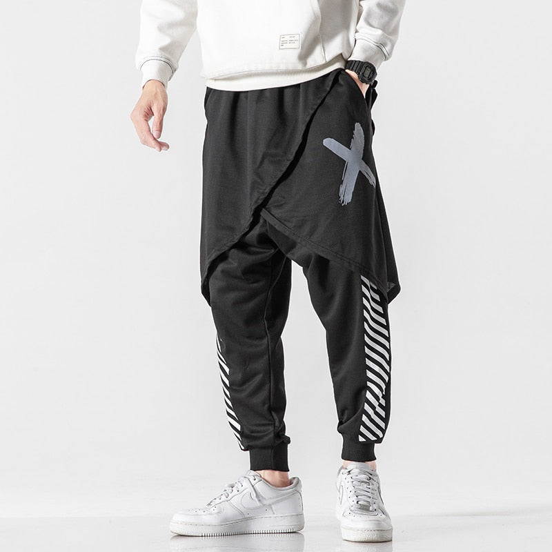 """X on the spot"" harem pants"