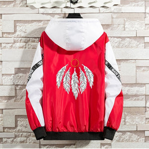 2 color oni scratch feather lit windbreaker