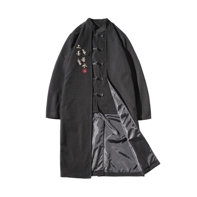 Legacy long trench jacket