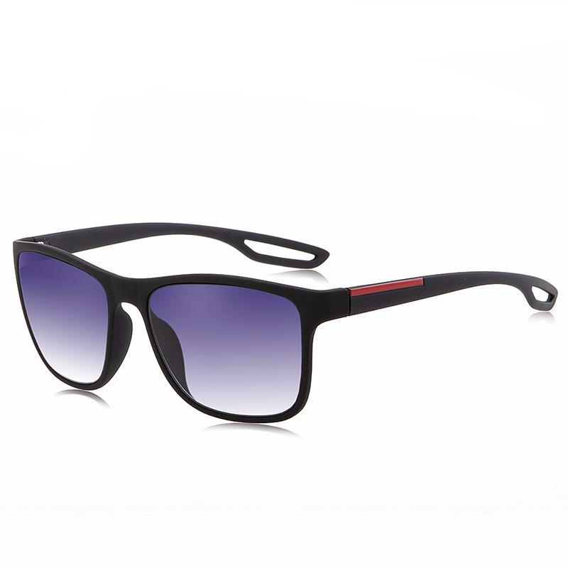 Men's casual sunglasses with red accent