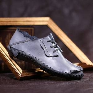 Men's breathable leather loafers