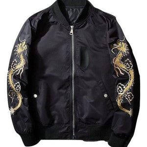Embroidery flight bomber jacket