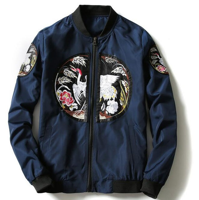 Ancient Chinese embroidery bomber jacket
