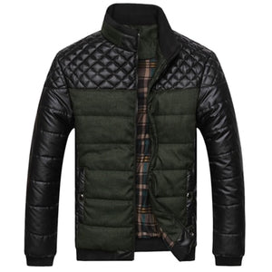 Puffy casual moto style jacket