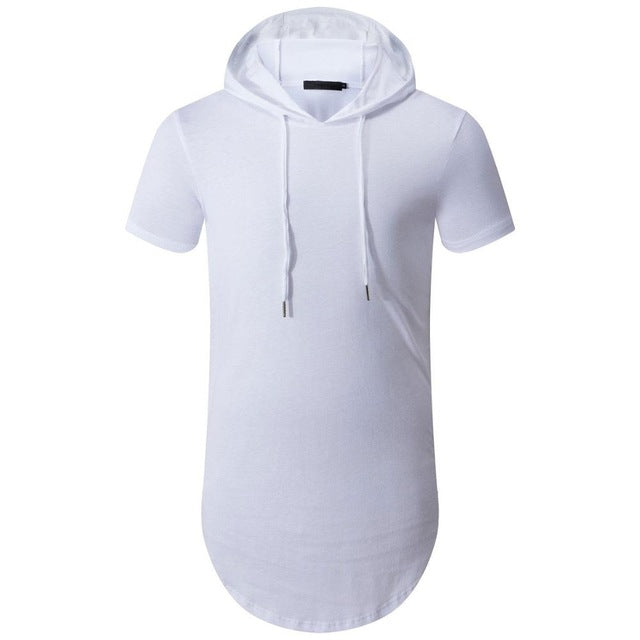 Urban zipper hooded T-shirt