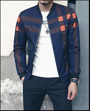 Classic plaid bomber jacket