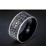 Tribal dragon titanium alloy ring