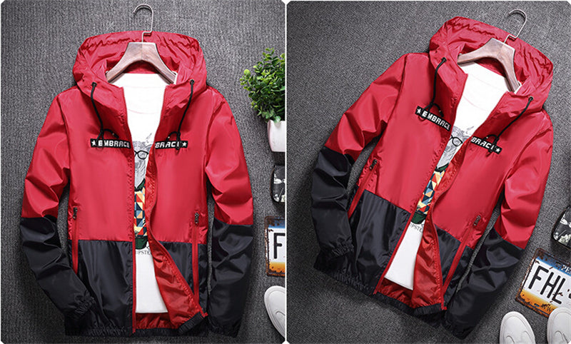 Embrace zip down windbreaker jacket