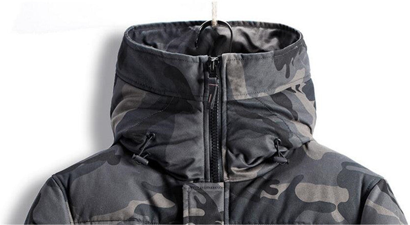 Thermal camo parkas jacket