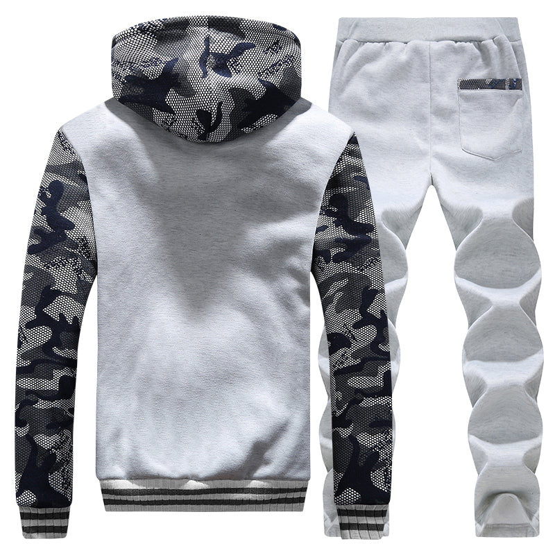 Casual fleece hoodie + sweatpants set