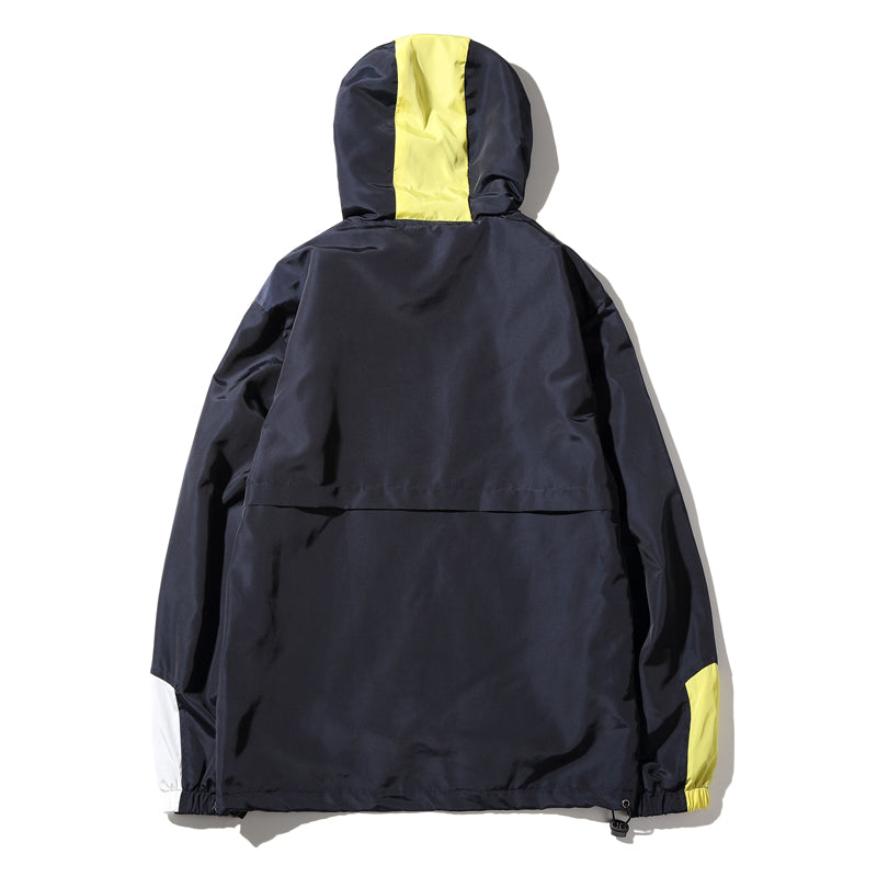 Urban patched style hooded jacket