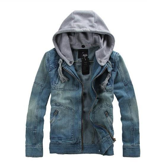 Vintage hooded denim jacket