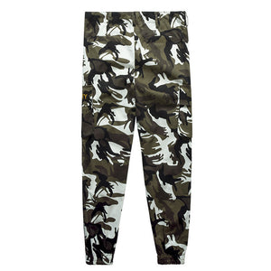 Security label camo cargo pants