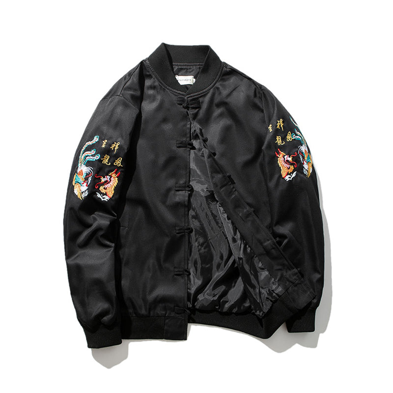 Chinese style dragon bomber jacket