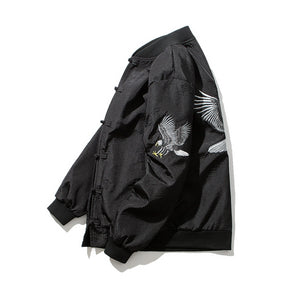 Chinese style eagle bomber jacket