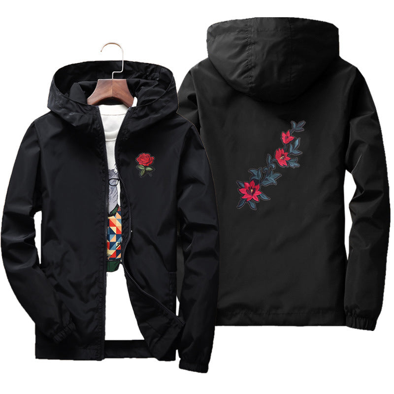 Rose design windbreaker jacket ver.2