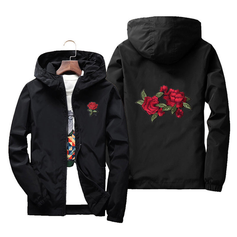 Rose design windbreaker jacket ver.3