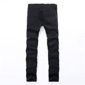 Men's knee zipper skinny jeans