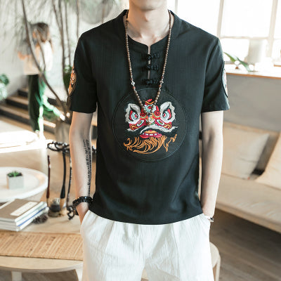 Ancient meets modern T-shirt Chinese lion - premium ver.
