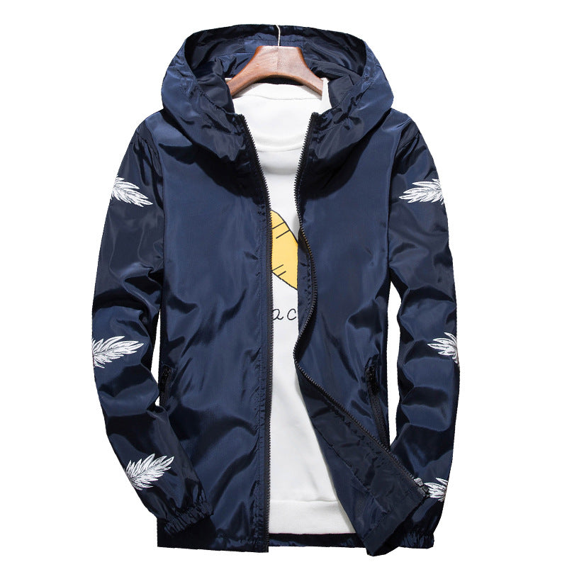 Feather lit windbreaker jacket