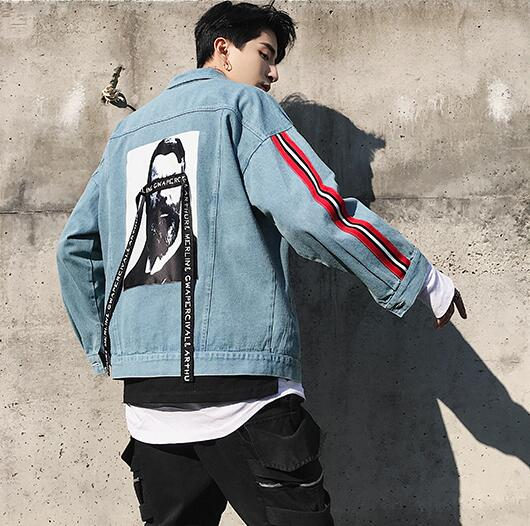 Hidden man denim jacket