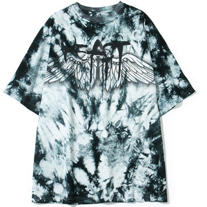Tie dye angel wings T-shirt