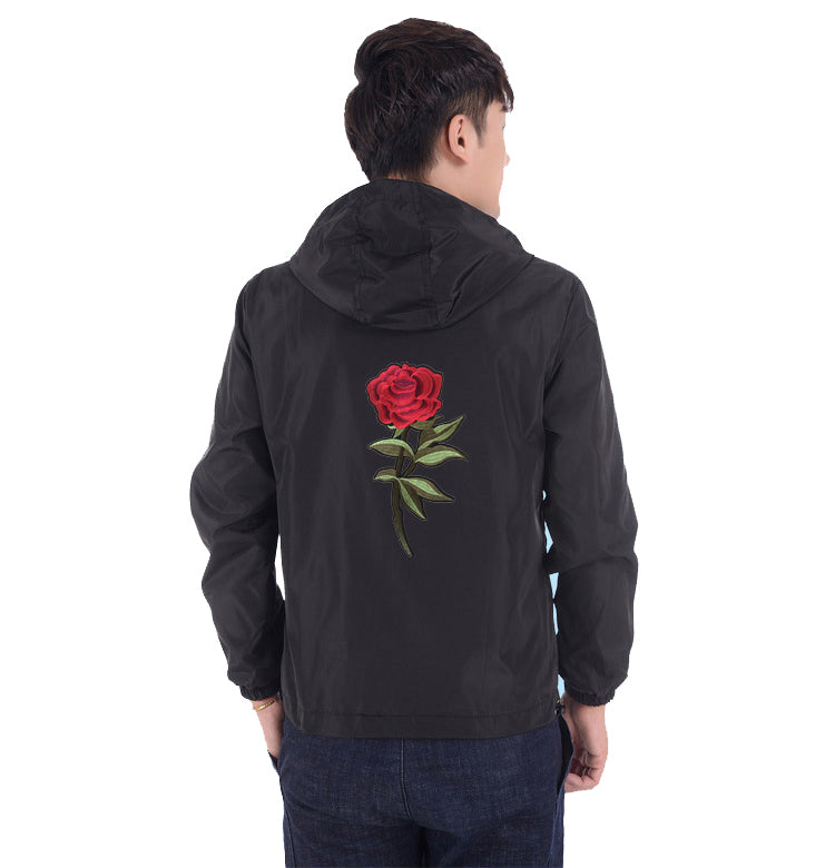 Rose design windbreaker jacket ver.1