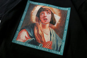 Painted Mary altered T-shirt
