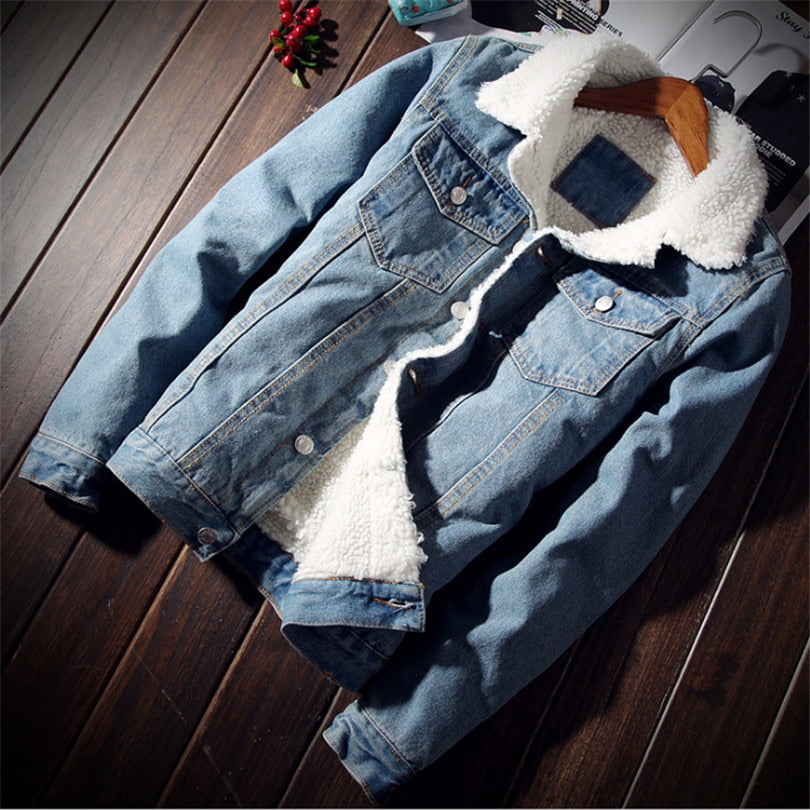 Vintage fleece lined jean jacket