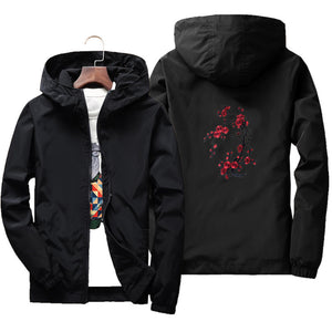 Rose design windbreaker jacket ver.4