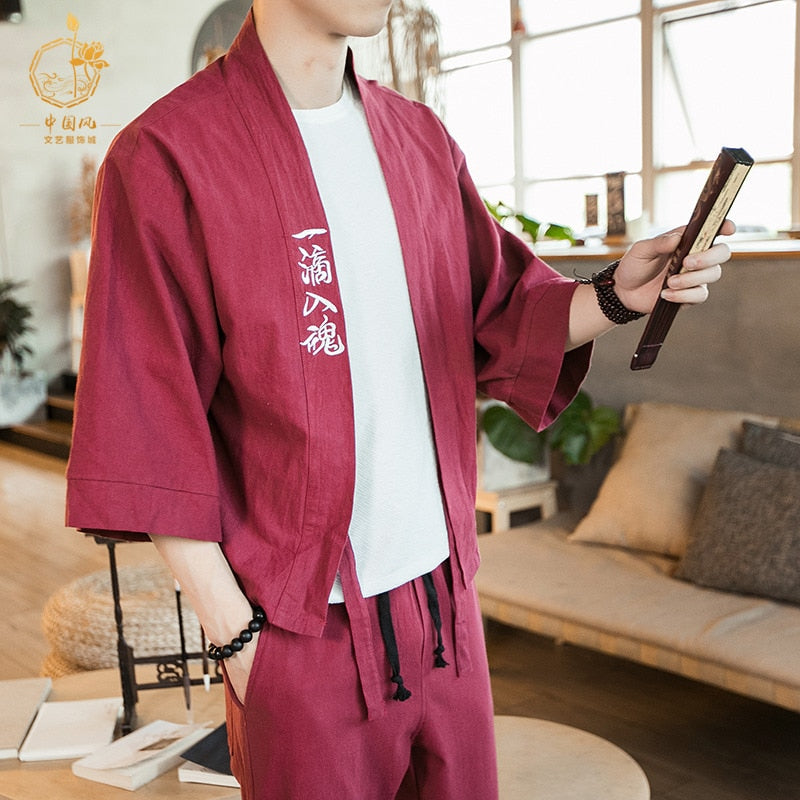Chinese hanfu jacket pants set