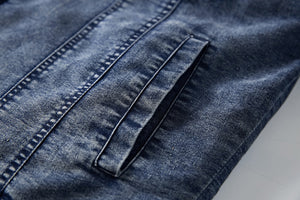 Fleece lining casual denim jacket